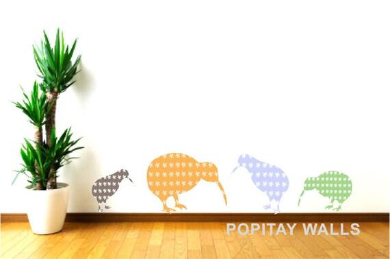 Nursery wall decor kiwi bird wall decals kids wall decor for Decoration kiwi