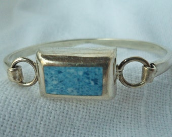 Mexican STERLING SILVER inlaid BRACELET