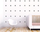 Stars Wall Decal, Wall Decal Pattern, Wall Stickers, Gray Stars, Kids Wall Decal, Stars, Stars Stickers, Baby. Stars Children Wall Decal