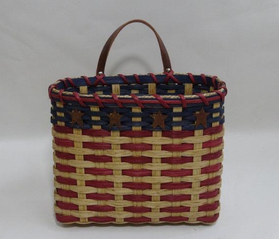 mail basket wall basket handwoven basket americana. Black Bedroom Furniture Sets. Home Design Ideas