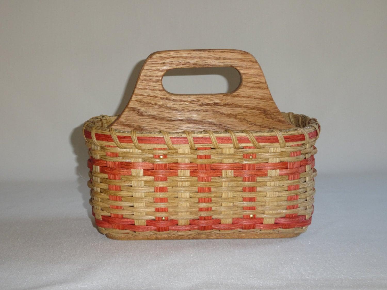 silverware paper plate napkin basket divided. Black Bedroom Furniture Sets. Home Design Ideas