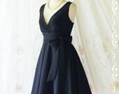 My Lady II Spring Summer Sundress Vintage Design Black Party Dress Black Bridesmaid Dress Black Garden Party Sundress lbd XS-XL