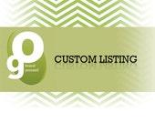 Custom Listing For Diaz
