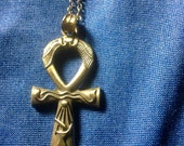 "Ankh Necklace Unisex 25"" Chain"