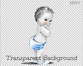 Vintage Baby Boy LARGE PNG Digital Image Download Sheet Transfer To Totes Pillows Tea Towels T-Shirts 284