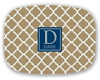Personalized Monogram Platter -Monogrammed Platter - Serving Tray - Choose your Colors - Hostess Gift - Bridal Shower Gift