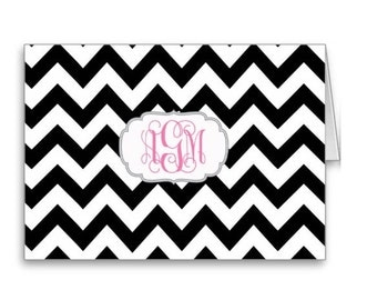 Personalized Folded Notecards - Set of 10- Monogram Notecards - Monogram Stationery