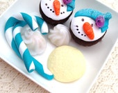 Doll Food Snowpeople Cupcakes Sugar Cookie French Creams Candy Canes AG  on Etsy