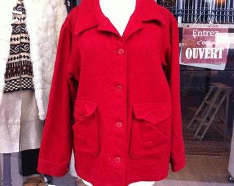1950 Knockabouts Pendleton Red  Shirt Jacket