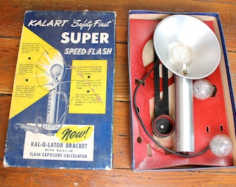 Say Cheese... Vintage Kalart Super Speed Camera Flash, Vintage Camera