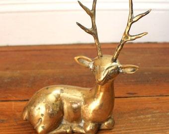 Vintage Christmas.. Vintage Brass Reindeer