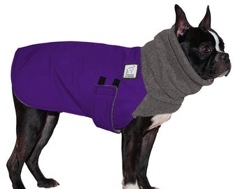 BOSTON TERRIER  Winter Dog Coat, Dog Coat, Winter Coat, Dog Clothing