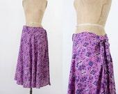 1970s bohemian block print skirt