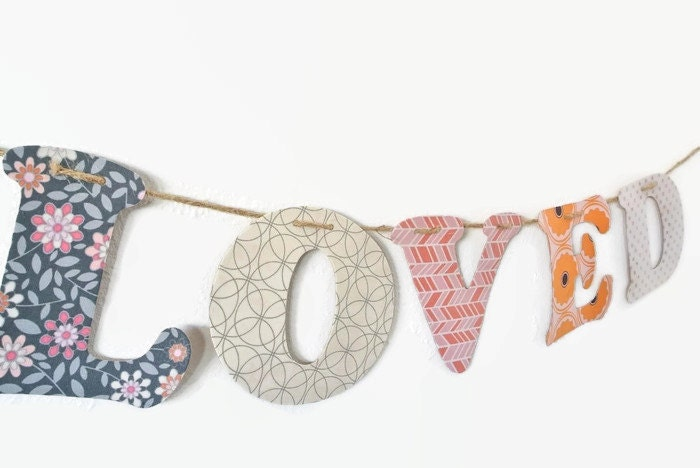 Custom Name Banner ~ Fabric Banner ~ Fabric Letters ~  Photo prop ~ WILLA Collection