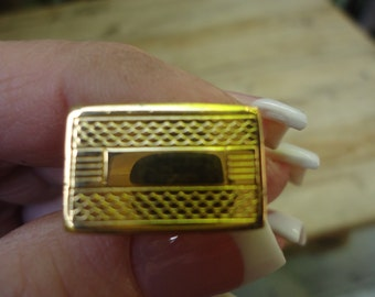 Vintage goldtone Men's cuff links