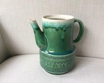 Green Japanese Pottery Pitcher