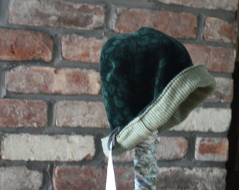 eco friendly reversible winter hat; upcycled