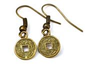 Small Chinese Coins . Earrings