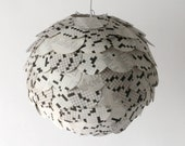 The Manhasset Crossword Pendant Light - Hanging Paper Artichoke Lantern - Shade Only