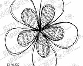 Digi Stamp Instant Download Oddball Stamps Elements - Newsprint Flower No. 194 by Lizzy Love 1 jpg & 1 png