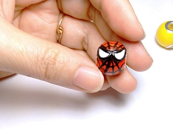 Spiderman European style large Hole Bead Charm / Made to order