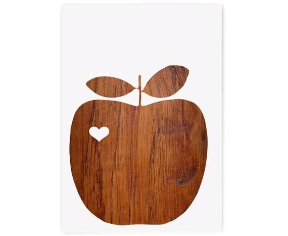 4 apple heart cards