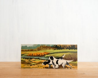 Paint by Number Art Block 'Hunting Dogs' - fall color, vintage landscape, hunting scene