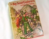 Vintage The Boy Scout Explorers at Emerald Valley Hard Cover HC DJ Dust Jacket