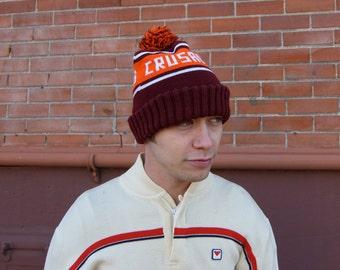 SALE 30% OFF - Vintage Crusaders Ski Beanie Pom Pom Hat