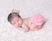 Gold Baby Crown, Silver Newborn Crown, Princess Headband, Mini Crown, Birthday Headband, Rhinestone Crown, Photography Prop, Marisa