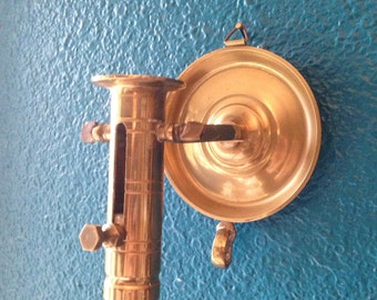 Mariners brass candle holder