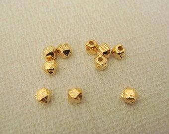 Gold Tarnish Resistant mini Metal bead disk Connectors, Earring Findings, pendants, 5 pc, U814945