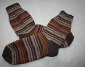 25,5 cm /// 10 inches Beautiful Comfort for to start the Year of the Snake - Soft Hand knit socks - US Men 7 /// US Women 8,5 /// EU 39