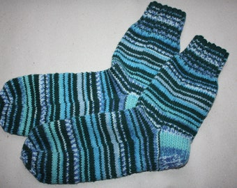 29 cm /// 11,5 inches Hand Knitted Socks - Unisex - US Men 12 /// US Women 13 /// EU 45-46