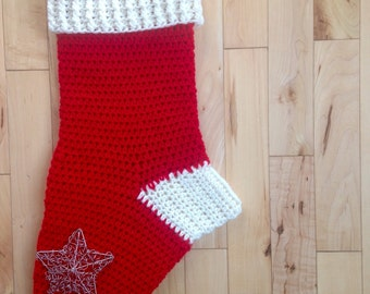 Crochet stocking. Christmas crochet stocking. Made to order customize your stocking .