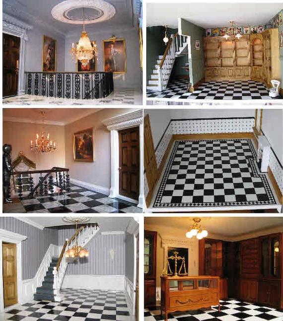 Dollhouse Flooring Installation: Items Similar To Dollhouse Flooring And Tiles. SF1 M1/M3