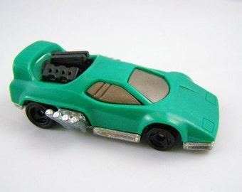 50% off clearance sale! Mattel Hot Wheels green hot rod car, vintage toy