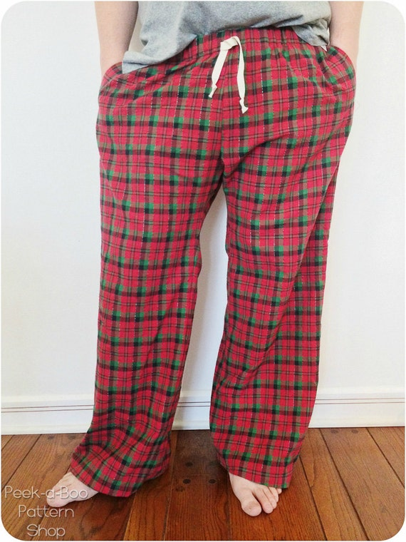 Product Features This is a pattern from Women's Mens Knit Tank Tops Pajama Pants.