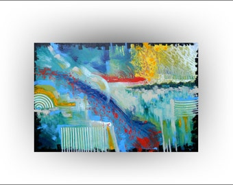 Abstract Country Painting - 24 x 36 - Skye Taylor