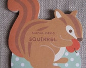 Cute Japanese Memo Pad/Note Pad - Squirrel
