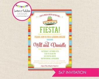 Fiesta Couples Shower Invitation, Fiesta Wedding Shower, Fiesta Party Invitation, Fiesta, Lauren Haddox Designs