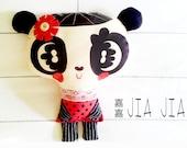 Panda Doll Handmade Plush Cushion Pillow - Jia Jia - decoration pillow - wedding gifts