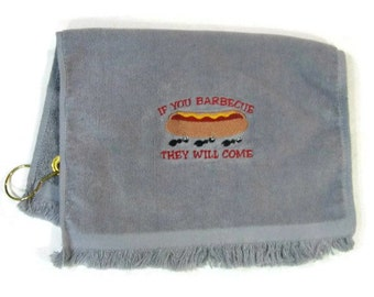 Picnic , cook out towel gray