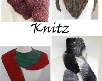Ebook with 4 scarf patterns to hand knit