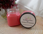 SALE - 8 oz Soy Strawberry & Champagne Container Candles
