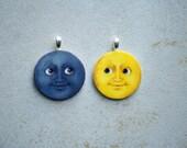 Moon Emoji Charm Set
