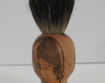shaving brush, black badger hair, ambrosia maple