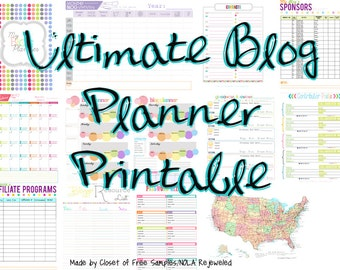 Ultimate BLOG Planner for Bloggers Printable Digital Download Calendar Schedular Limited Edition