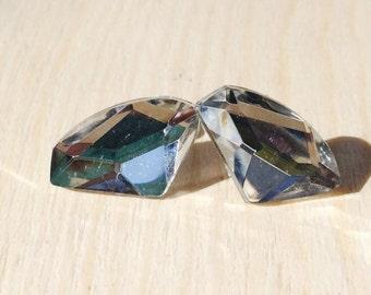 Gorgeous faux diamond stud earrings