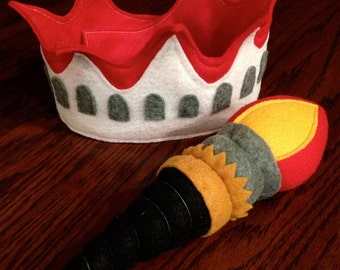 Kids Felt Crown, Patriotic Crown of Statue of Liberty,Torch,4th Of July,Summer Celebrations